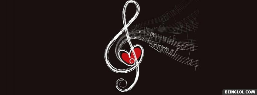 Musical Heart Facebook Cover