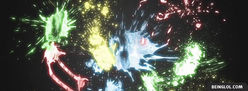 Neon Color Splatter Facebook Cover