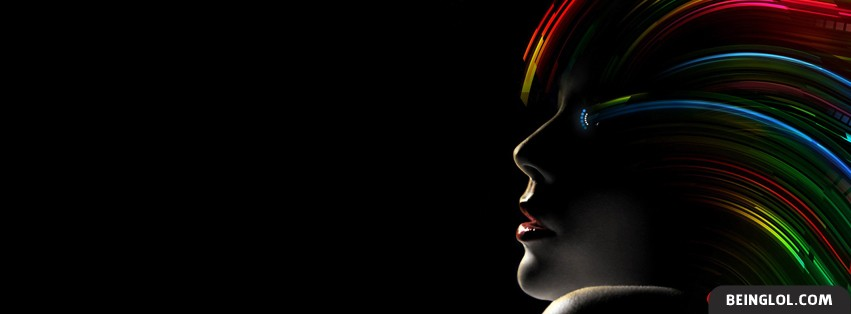 Neon Hair Facebook Cover