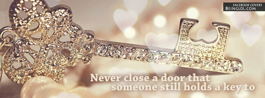 Never Close A Door Facebook Cover