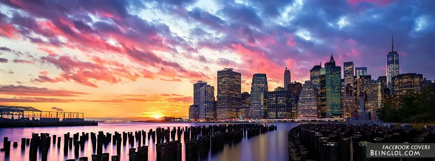 New York Sun Set Facebook Cover