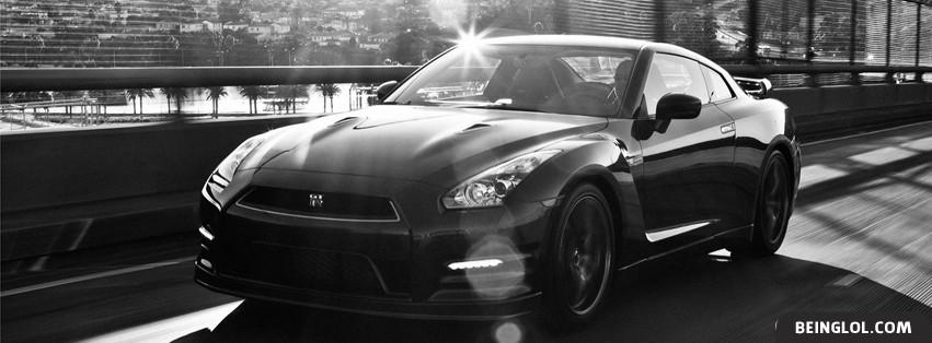Nissan GTR (B/W) Facebook Cover