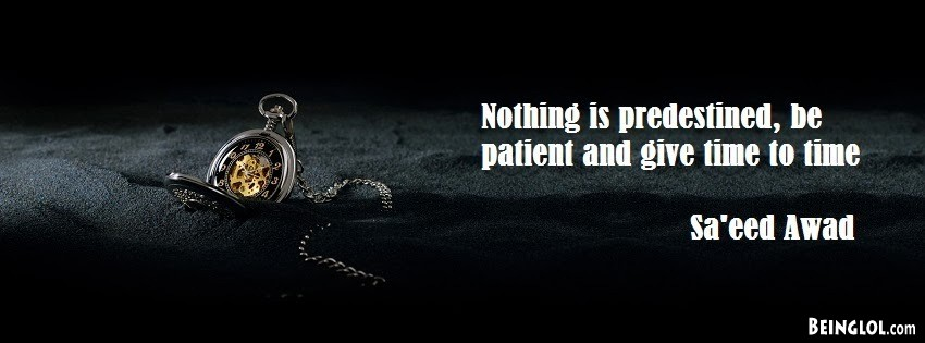Nothing Is Predestined By Saeed Awad Facebook Cover