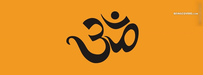 Om Symbol For Hinduism Facebook Cover