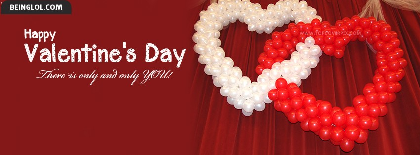 Only You Happy Valentines Day Facebook Cover