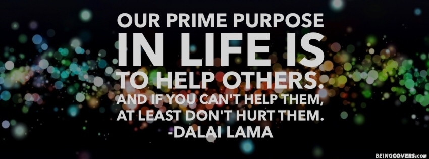 Our Prime Purpose In Life Facebook Cover