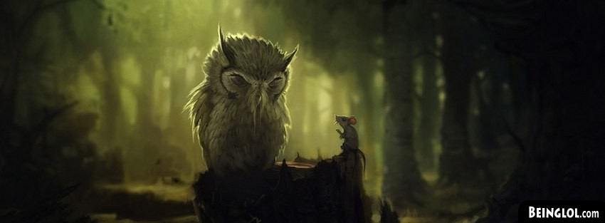 Owl And Mice Fantasy Art Facebook Cover
