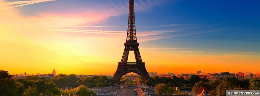 Paris Eiffel Tower Beautiful Sunrise Cover