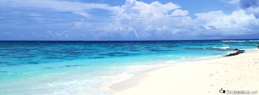 Peaceful White Sand Beach Facebook Cover
