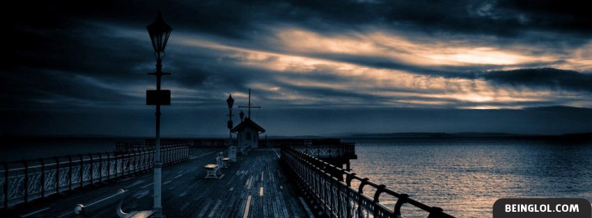 Pier Sunset Facebook Cover
