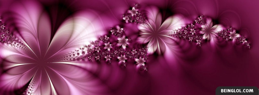 Pink Flower Effect Cover