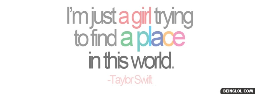 Place In This World Taylor Swift Facebook Cover