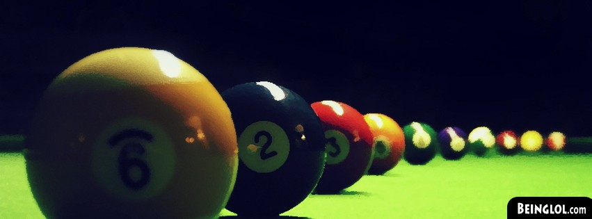 Pool Balls Lined Up Facebook Cover