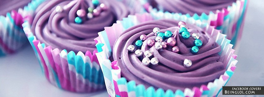 Purple Cupcakes Facebook Cover