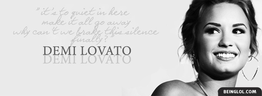 Quiet By Demi Lovato Lyrics Facebook Cover