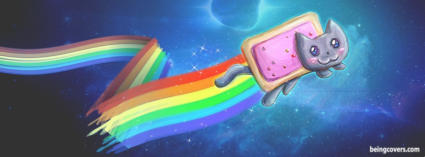 Rainbow Cat Facebook Cover