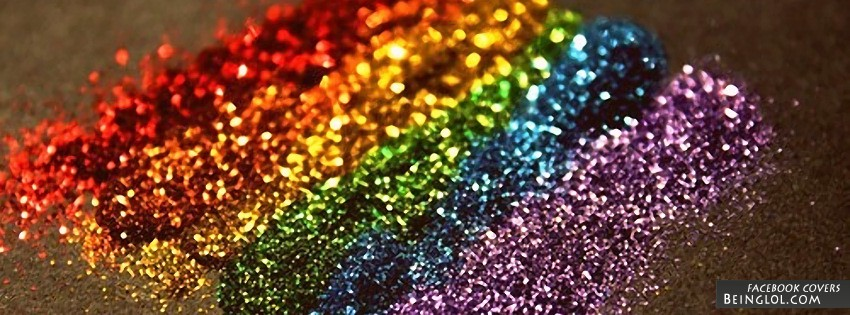 Rainbow Glitter Facebook Cover