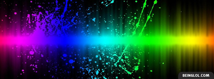 Rainbow Spectrum Splatter Facebook Cover