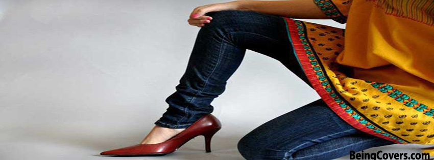 Red High Heels Girls Facebook Cover
