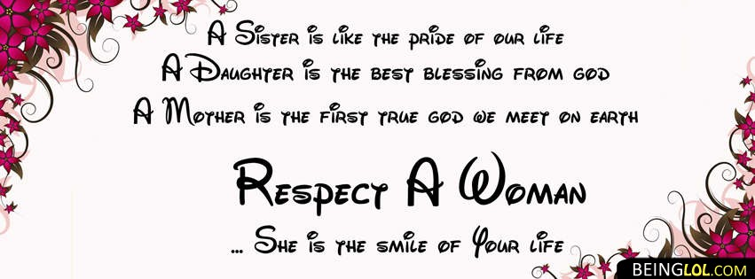 Respect Woman Facebook Cover