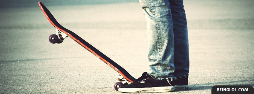 Retro Skateboard Kid Facebook Cover