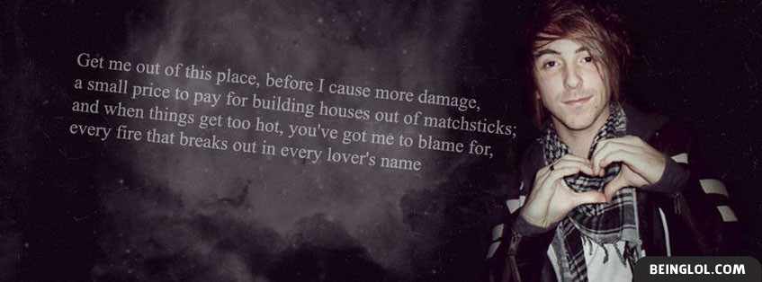 Running From Lions Lyrics By All Time Low Facebook Cover