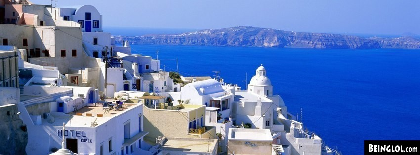 Santorini Facebook Cover