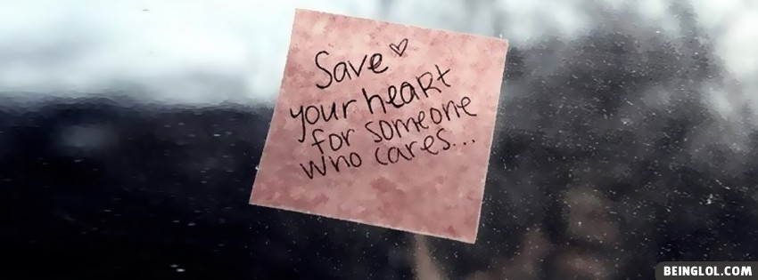Save Your Heart Facebook Cover