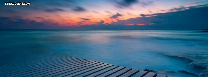 Sea In Evening Facebook Cover