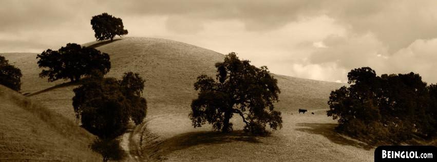 Sepia Landscape Facebook Cover