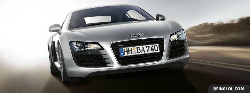 Silver Audi R8 Facebook Cover