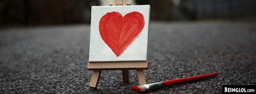 Small Painted Heart Facebook Cover