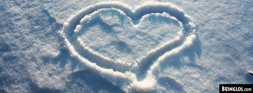 Snow Heart Facebook Cover