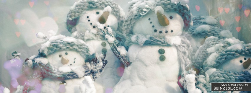 Snow Men Facebook Cover
