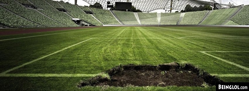 Soccer Stadium Ruined Grass Facebook Cover