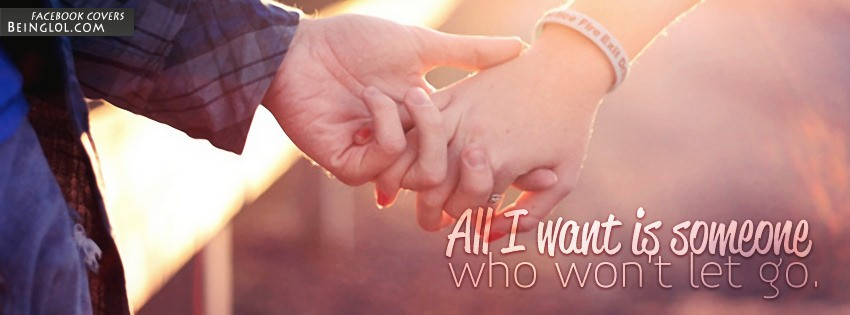 Someone Who Won't Let Go Facebook Cover