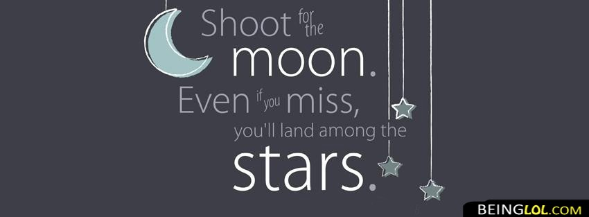 Stars Moon Quote Facebook Cover