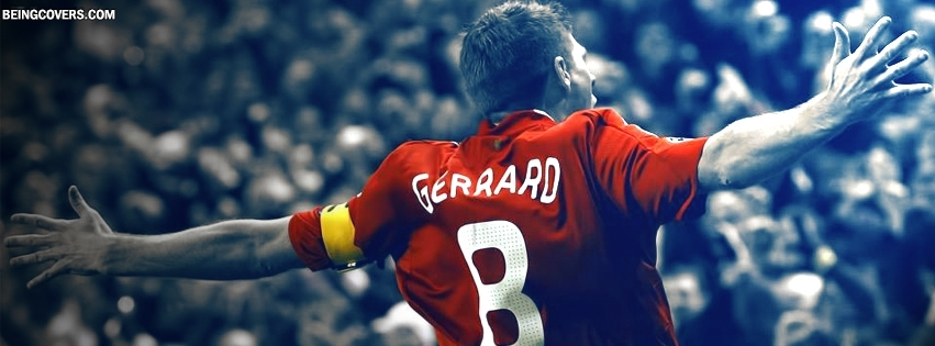 Steven Gerrard Celebrating Facebook Cover
