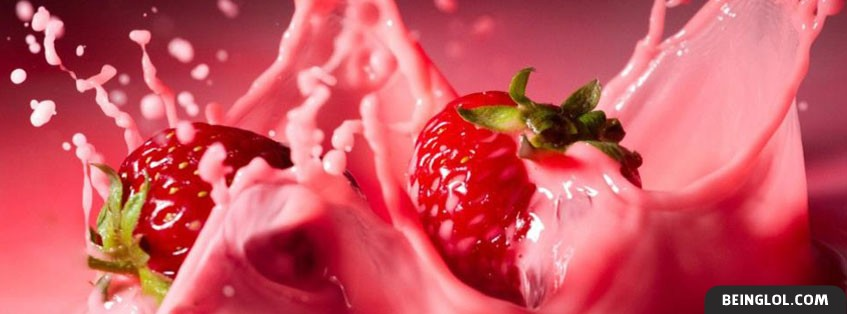 Strawberry Splash Facebook Cover
