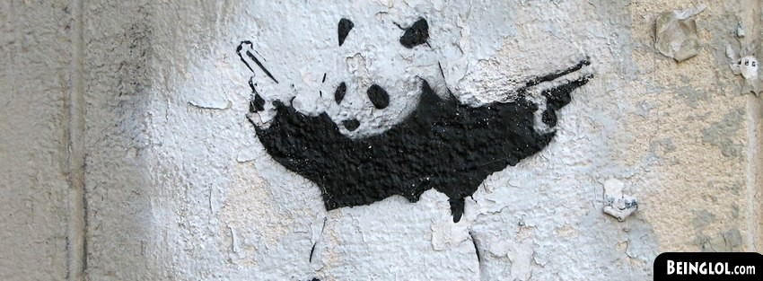 Street Art Panda Holding Guns Cover
