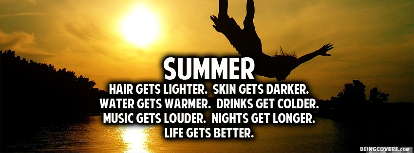 Summer Quote. Facebook Cover