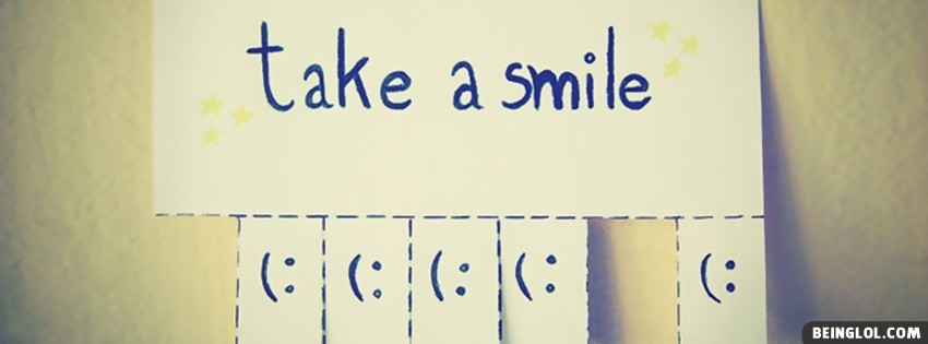 Take A Smile Facebook Cover
