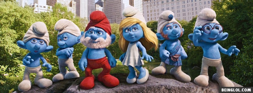 The Smurfs Facebook Cover