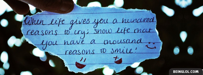 Thousand Reasons To Smile Facebook Cover