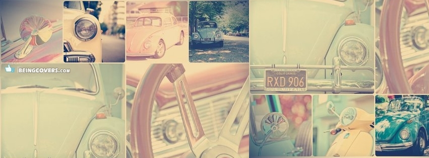Vintage Girly Car College Facebook Cover