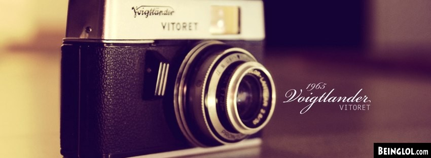 Vintage Vitoret Camera Facebook Cover