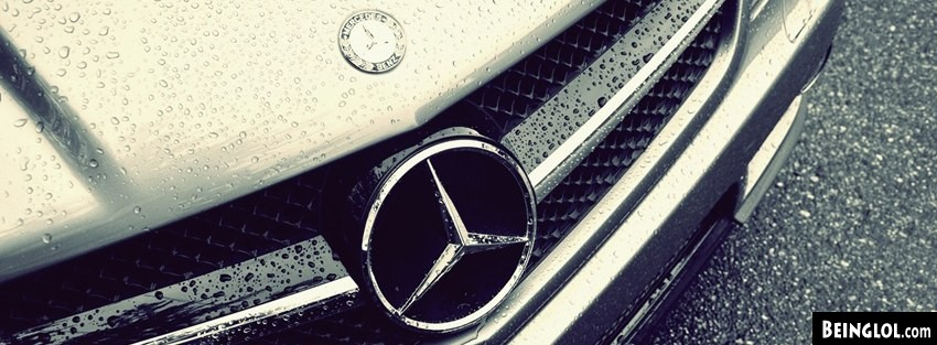 Vintage Water Drops Emblem Mercedes Benz Facebook Cover