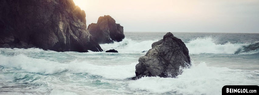 Waves Clashing Facebook Cover