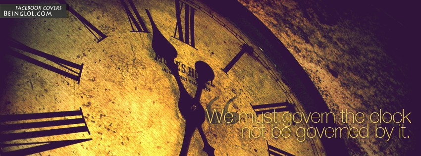 We Must Govern The Clock Facebook Cover
