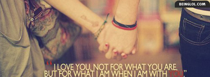 What I Am When I Am With You Facebook Cover